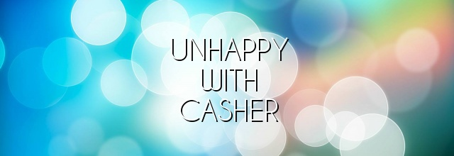 unhappy with casher